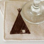 DIY Fall Crafts Anthropologie knock off teepee coasters
