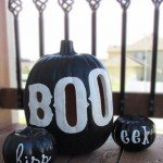 "Black and ""BOO"" Pumpkin Luminary"