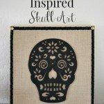 DIY Halloween Decor Pottery Barn Inspired Skull Art