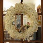 Felt Leaf Owl Wreath