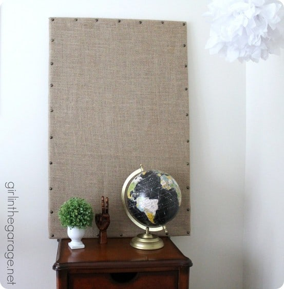 DIY Home Decor Ideas Ballard Inspired Burlap Memo Board
