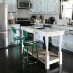 DIY Home Ideas Kitchen island made from reclaimed materials