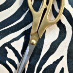 Glamorous Gold Painted Scissors