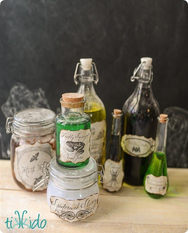 Halloween Potion Bottles With Free Printable