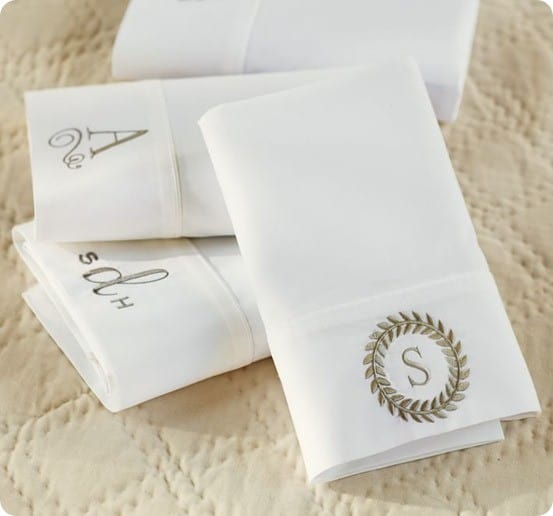 PB Classic Pillowcase with Monogram