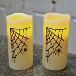 Spider Web Flameless Pillar Candles