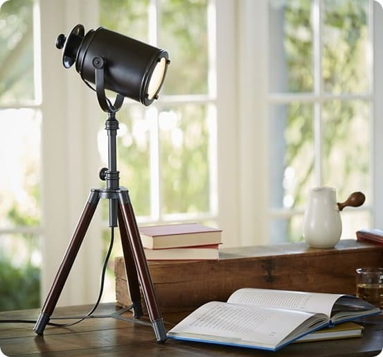 Photographers Tripod Table Lamp from Pottery Barn