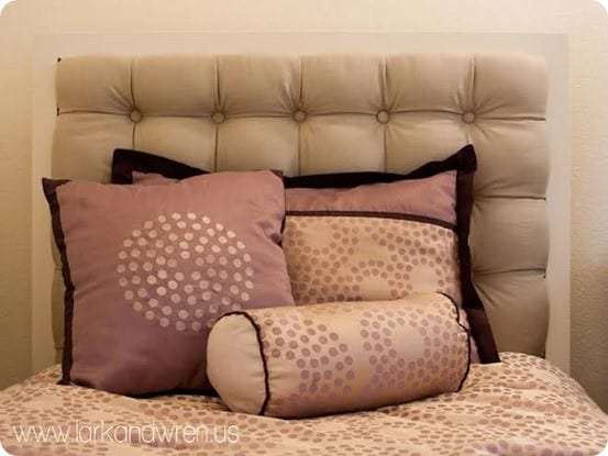 Pottery Barn Kids Inspired DIY Upholstered Headboard with Tufts