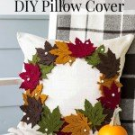 Fall Leaf Wreath Pillow