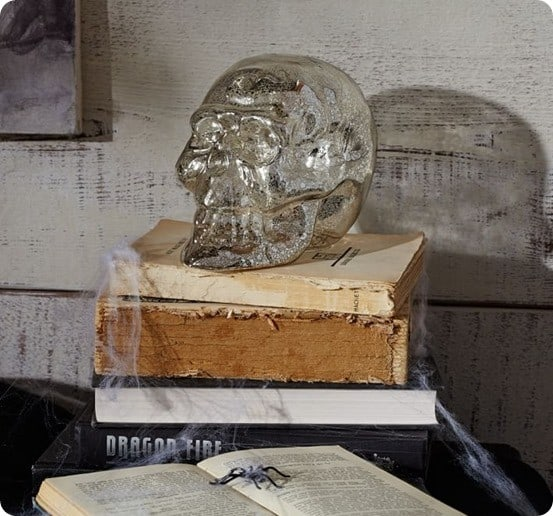 Pottery Barn Mercury Glass Skull