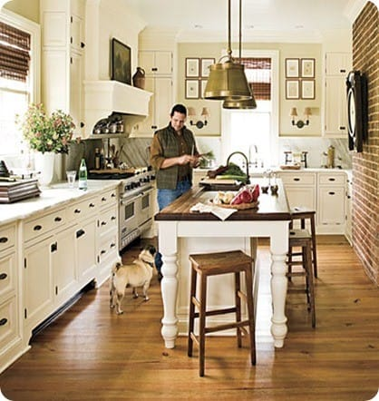Southern Living Farmhouse Kitchen with Island