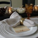 "DIY ""Linen"" Napkins for Thanksgiving"