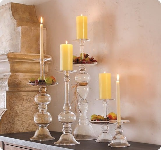addison glass candleholders