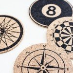 Graphic Sharpie Art Cork Coasters