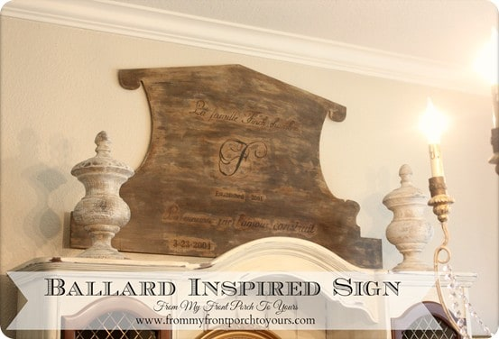 ballard inspired family sign