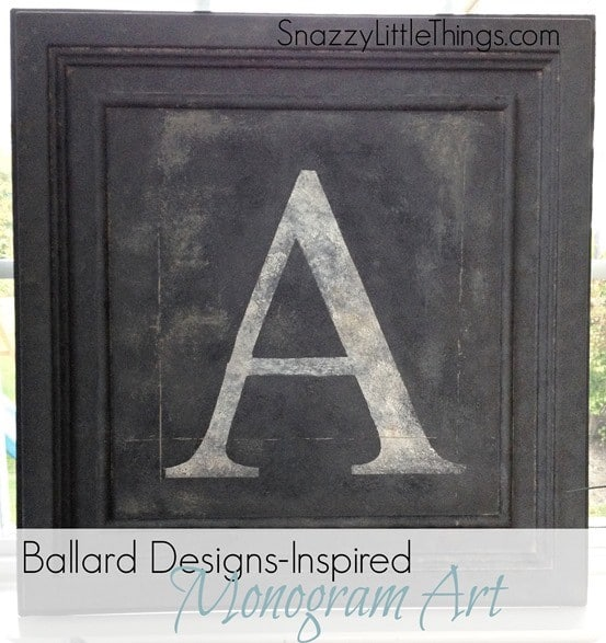 ballard inspired monogram art
