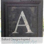 ballard inspired monogram art
