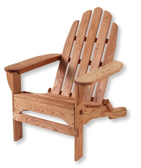 classic wooden adirondack chair