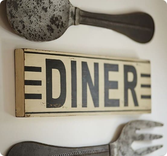 diner sign pottery barn