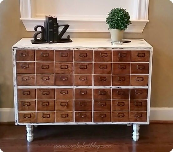 Thrift Store Cabinet To Card Catalog Style Cabinet