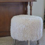 Wal-mart Find to Designer Fur Stool