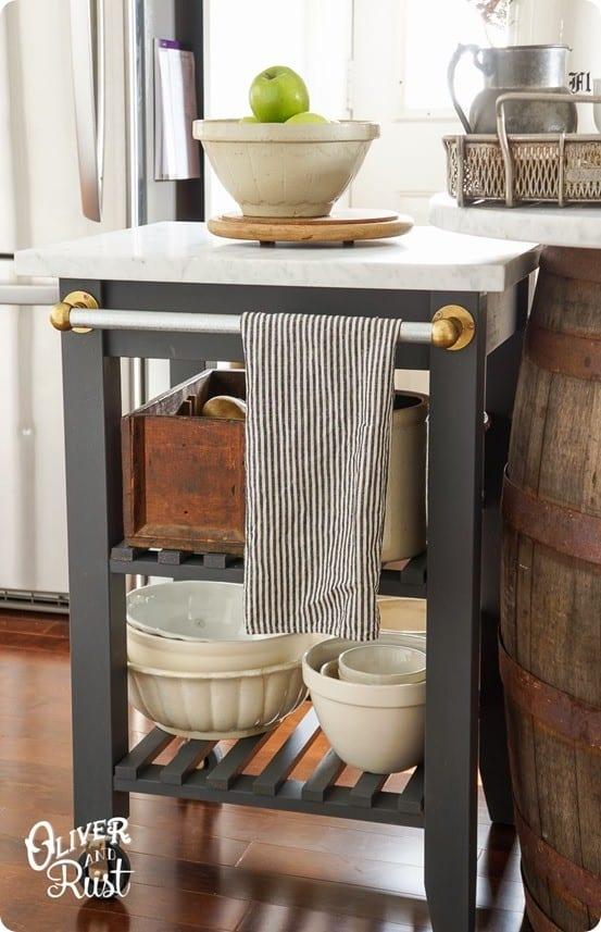 Ikea Hack Kitchen Cart Makeover