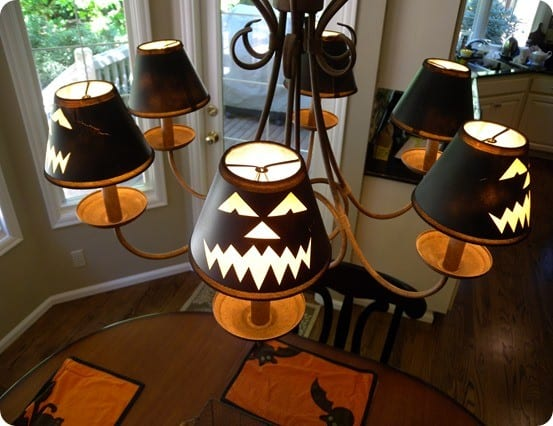 jack o lantern chandelier covers