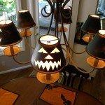 Jack-O-Lantern Chandelier Shades