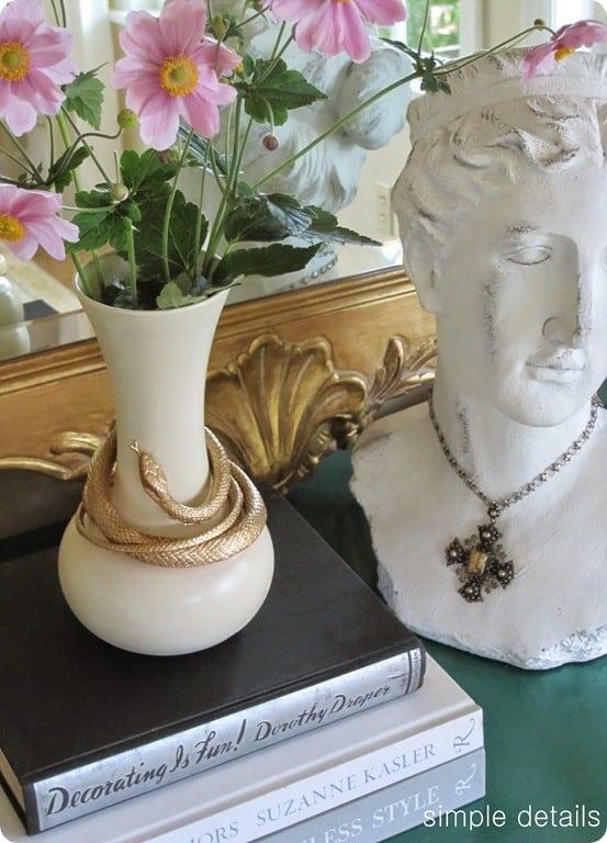 nate berkus diy knock off gold serpent vase