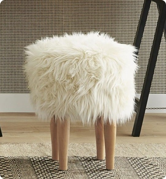 Wal Mart Find To Designer Fur Stool