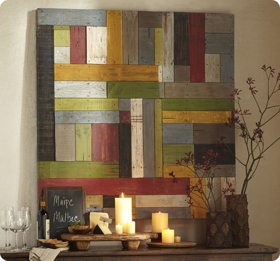 painted pieced wood art
