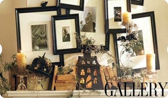 pottery barn ghostly gallery halloween mantel