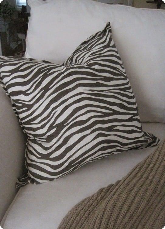 pottery barn inspired animal print pillow