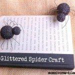 Glitter Spider Halloween Vase Filler