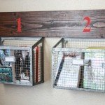 Wood and Wire Wall Storage Baskets