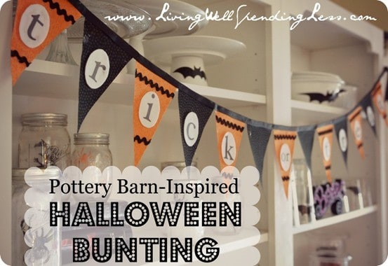 pottery barn kids inspired hallowee bunting