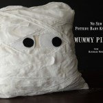 No-Sew Mummy Halloween Pillow
