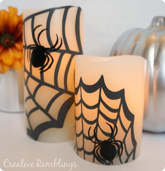 spider flameless halloween candles