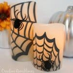 Flameless Pillar Spider Candles
