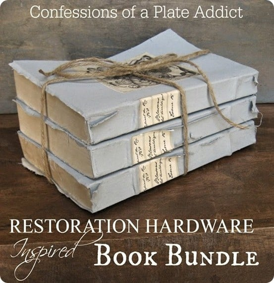 Holiday Decor Gift Ideas Pottery Barn Edition All My: DIY Vintage Book Bundle
