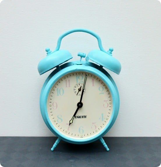Chalk Painted Retro Alarm Clock