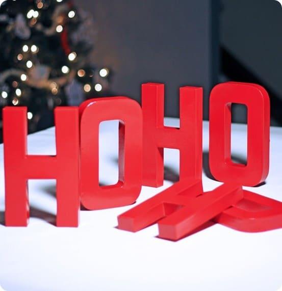 DIY Ho ho ho letters