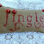 Jingle Bell Burlap Pillow