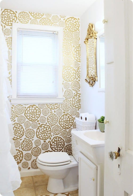 DIY Home Decor Faux Flower Wallpaper