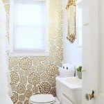 Gold Floral Faux Wallpaper