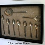 DIY Home Decor Ideas Pottery Barn knock off spoon shadow box art