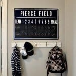 Personalized Chalkboard Scoreboard Wall Art