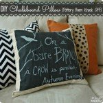 DIY Home Decor  Pottery Barn inspired chalkboard pillow