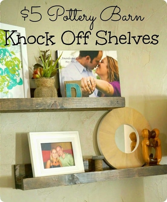 DIY Home Decor Pottery Barn knock off ledge