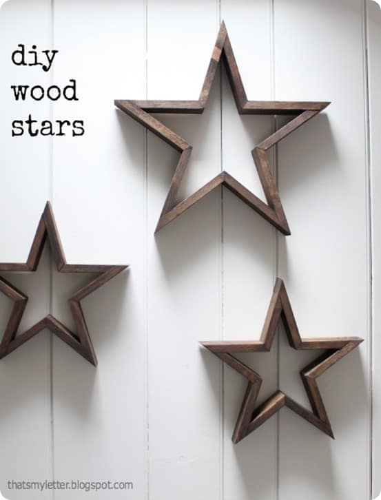 DIY Home Decor Wooden Stars